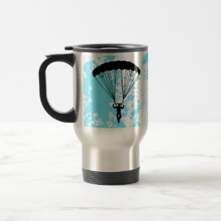 skydiver silhouette travel mug