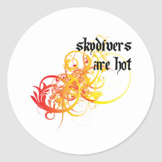 Skydivers Are Hot Round Sticker