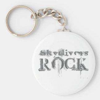 Skydivers Rock Key Chain