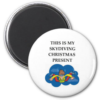 skydiving 6 cm round magnet