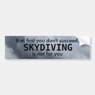 SKYDIVING BUMPER STICKER