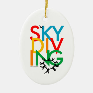 Skydiving Ceramic Oval Decoration