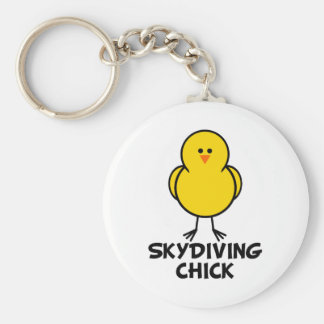 Skydiving Chick Keychains