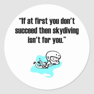 Skydiving Classic Round Sticker