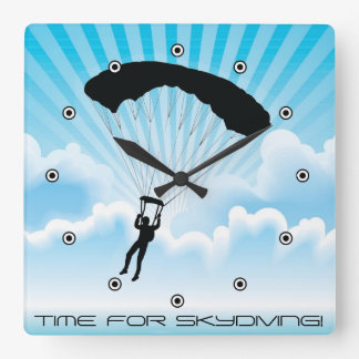 Skydiving Design Wall Clock