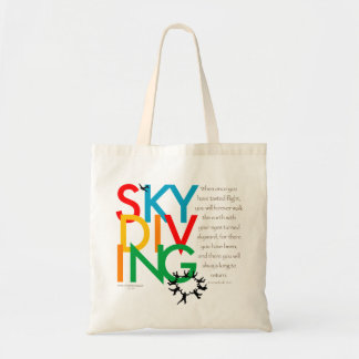 Skydiving Desire Budget Tote Bag