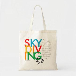 Skydiving Desire Tote Bag