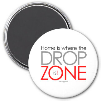 Skydiving Drop Zone 7.5 Cm Round Magnet