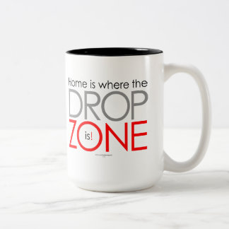 Skydiving Drop Zone Two-Tone Coffee Mug