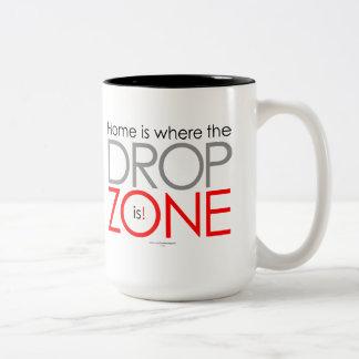 Skydiving Drop Zone Two-Tone Mug
