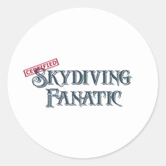 Skydiving Fanatic Classic Round Sticker