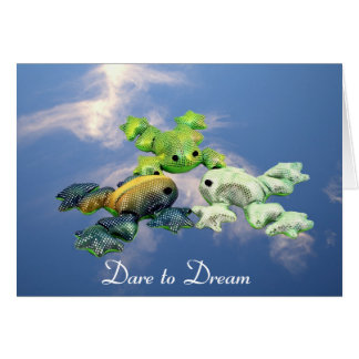 Skydiving Frogs Note Card