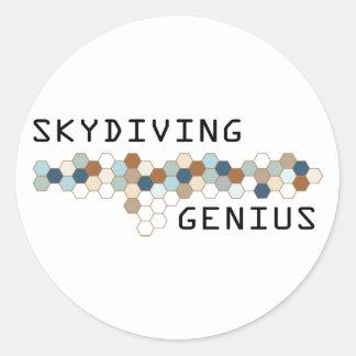 Skydiving Genius Classic Round Sticker