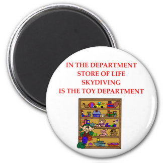 SKYDIVING gifts t-shirts 6 Cm Round Magnet