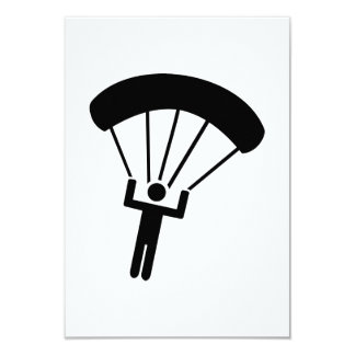 Skydiving icon 9 cm x 13 cm invitation card