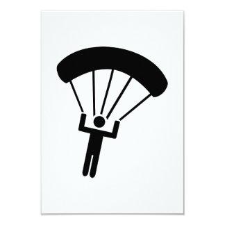 Skydiving icon 9 cm x 13 cm invitation card