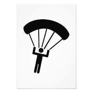 Skydiving icon custom invitation