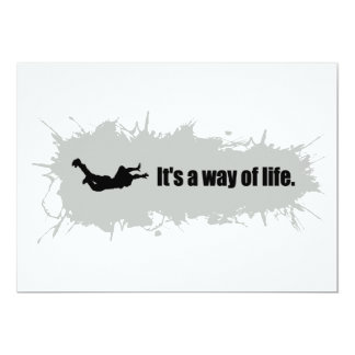 Skydiving is a Way of Life 13 Cm X 18 Cm Invitation Card