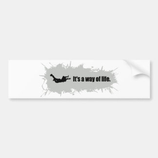Skydiving is a Way of Life Bumper Sticker