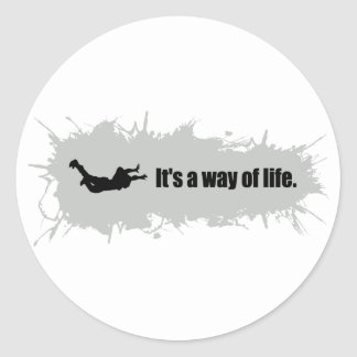 Skydiving is a Way of Life Classic Round Sticker
