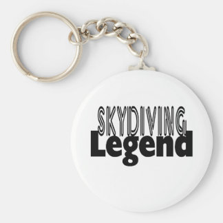 Skydiving Legend Basic Round Button Key Ring
