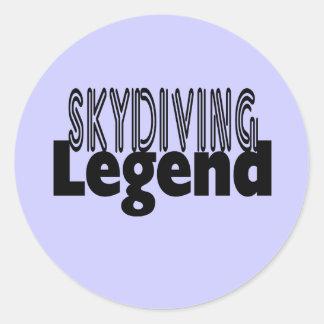 Skydiving Legend Classic Round Sticker