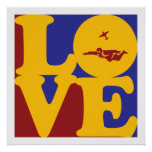 Skydiving Love Print
