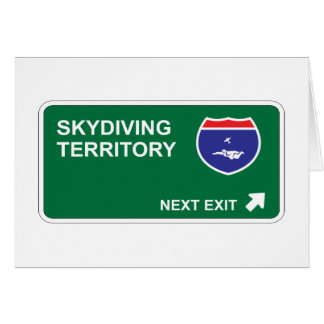 Skydiving Next Exit Greeting Card
