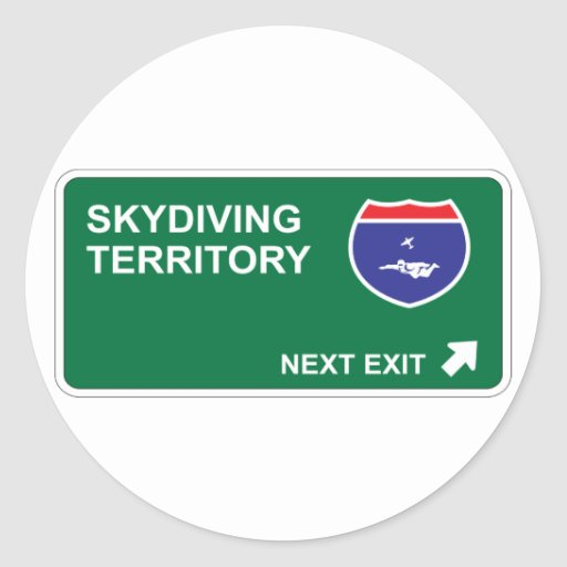 Skydiving Next Exit Sticker