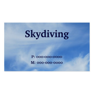 Skydiving Pack Of Standard Business Cards