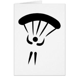 Skydiving parachute greeting card