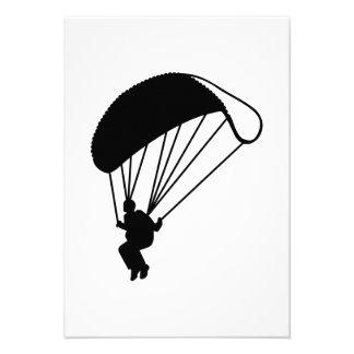 Skydiving parachutist custom invitation