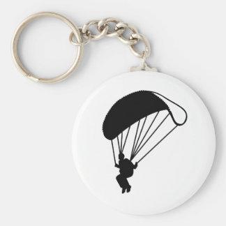 Skydiving parachutist keychain