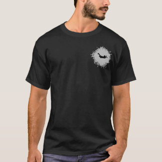 Skydiving Scribble Style T-Shirt