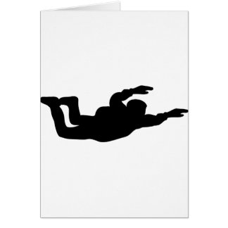 skydiving skydiver icon greeting card