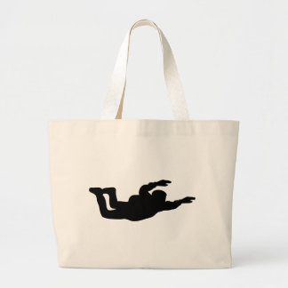 skydiving skydiver icon large tote bag