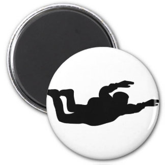 skydiving skydiver icon magnet