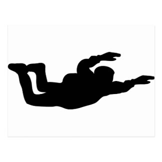 skydiving skydiver icon postcard