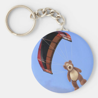 Skydiving Teddy Bear Keychain