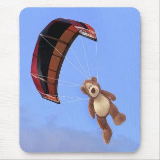 Skydiving Teddy Bear Mousepad
