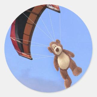 Skydiving Teddy Bear Stickers