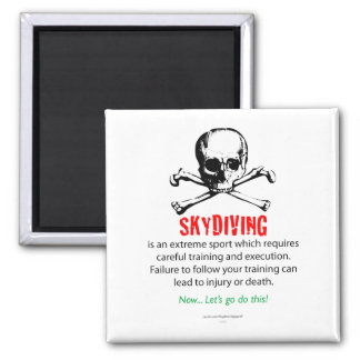 Skydiving Training Square Magnet