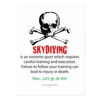 Skydiving Training Postcard