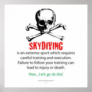 Skydiving Training Print