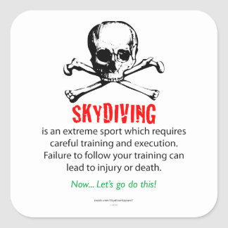 Skydiving Training Square Sticker