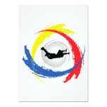 Skydiving Tricolor Emblem 13 Cm X 18 Cm Invitation Card