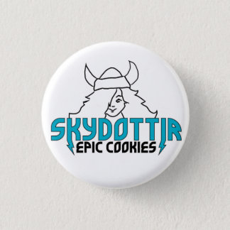 Skydottir Epic Cookies GIRL LOGO 3 Cm Round Badge