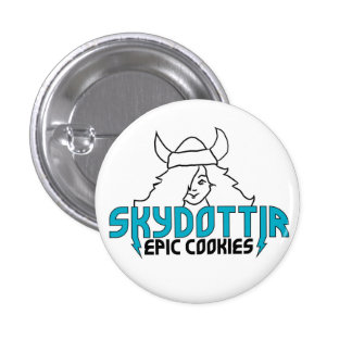 Skydottir Epic Cookies GIRL LOGO 3 Cm Round Badge