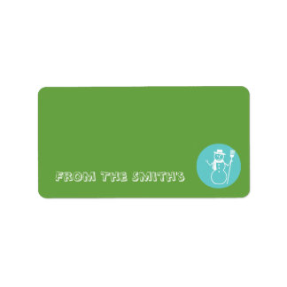 Skye - Green & Blue - Matching Gift Tag Label Address Label
