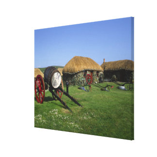 Skye Museum, Kilmuir, Isle of Skye, Highlands, Canvas Print